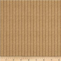 On Time Suiting Stripe Tan Fabric