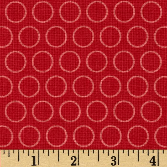 Riley Blake Just Dreamy 2 Circles Red
