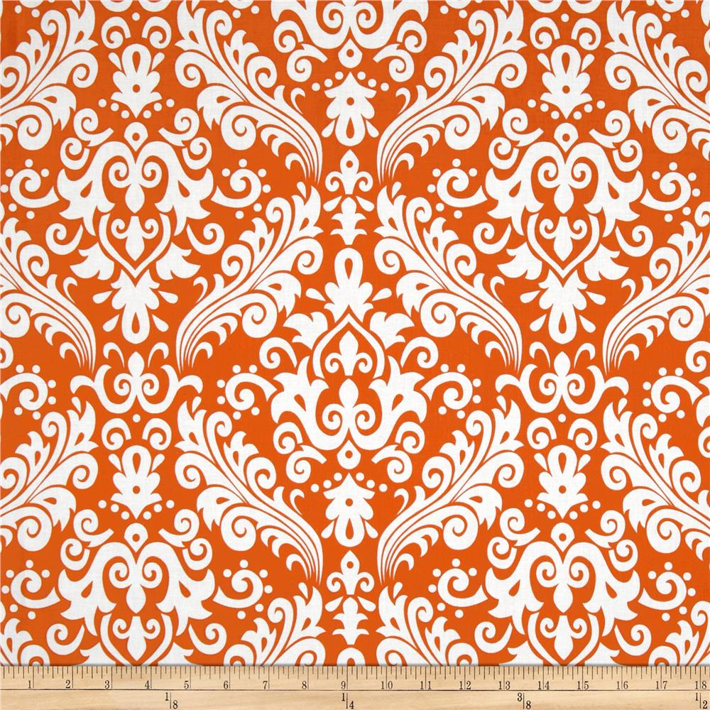 Riley Blake Large Damask Orange