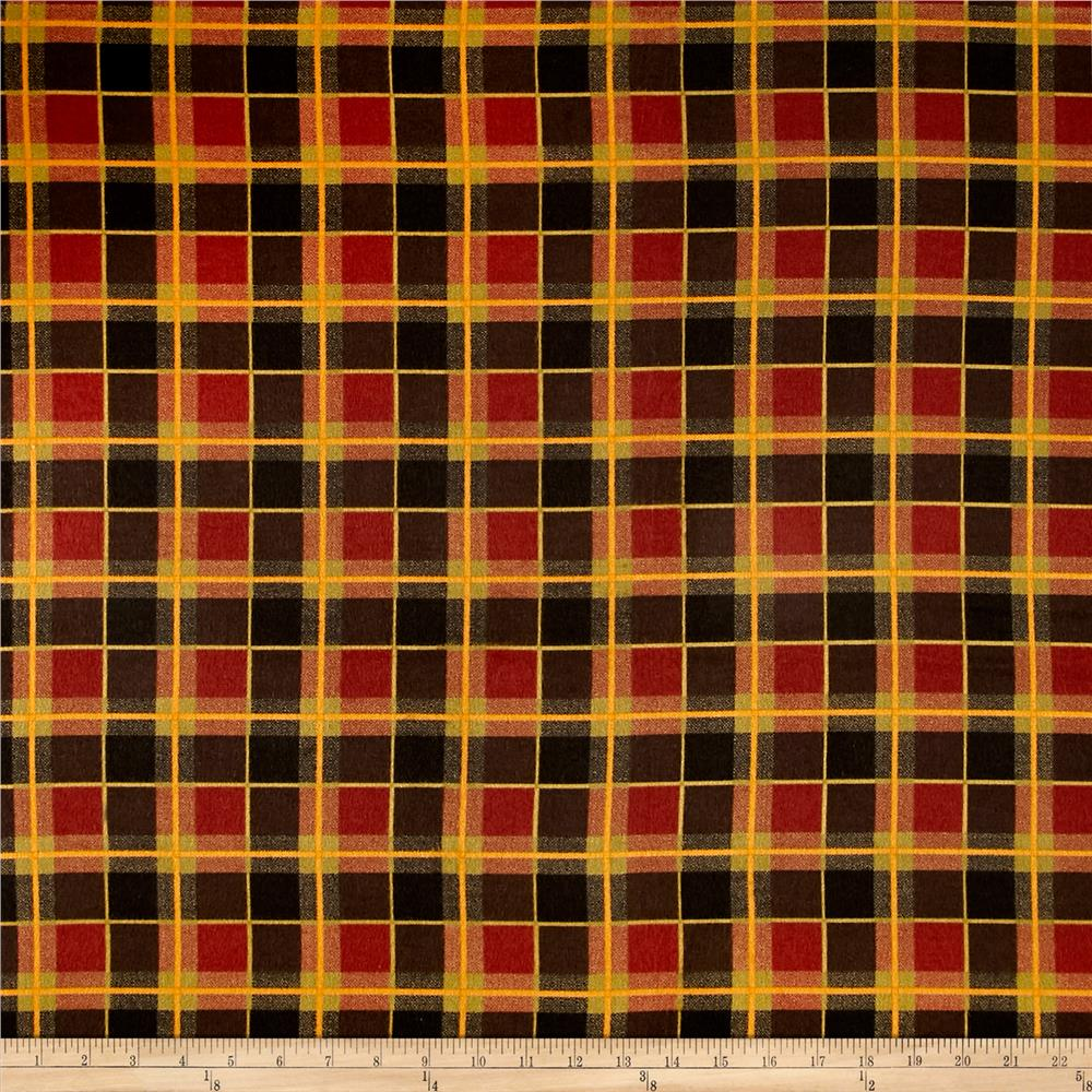 Timeless Treasures Oxford Flannel Windowpane Plaid Multi Fabric