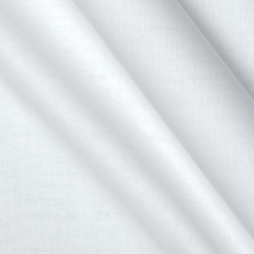 Pima Cotton Crepon Voile White