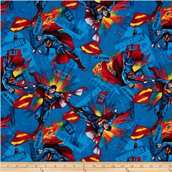 Superman It's Superman Blue Fabric