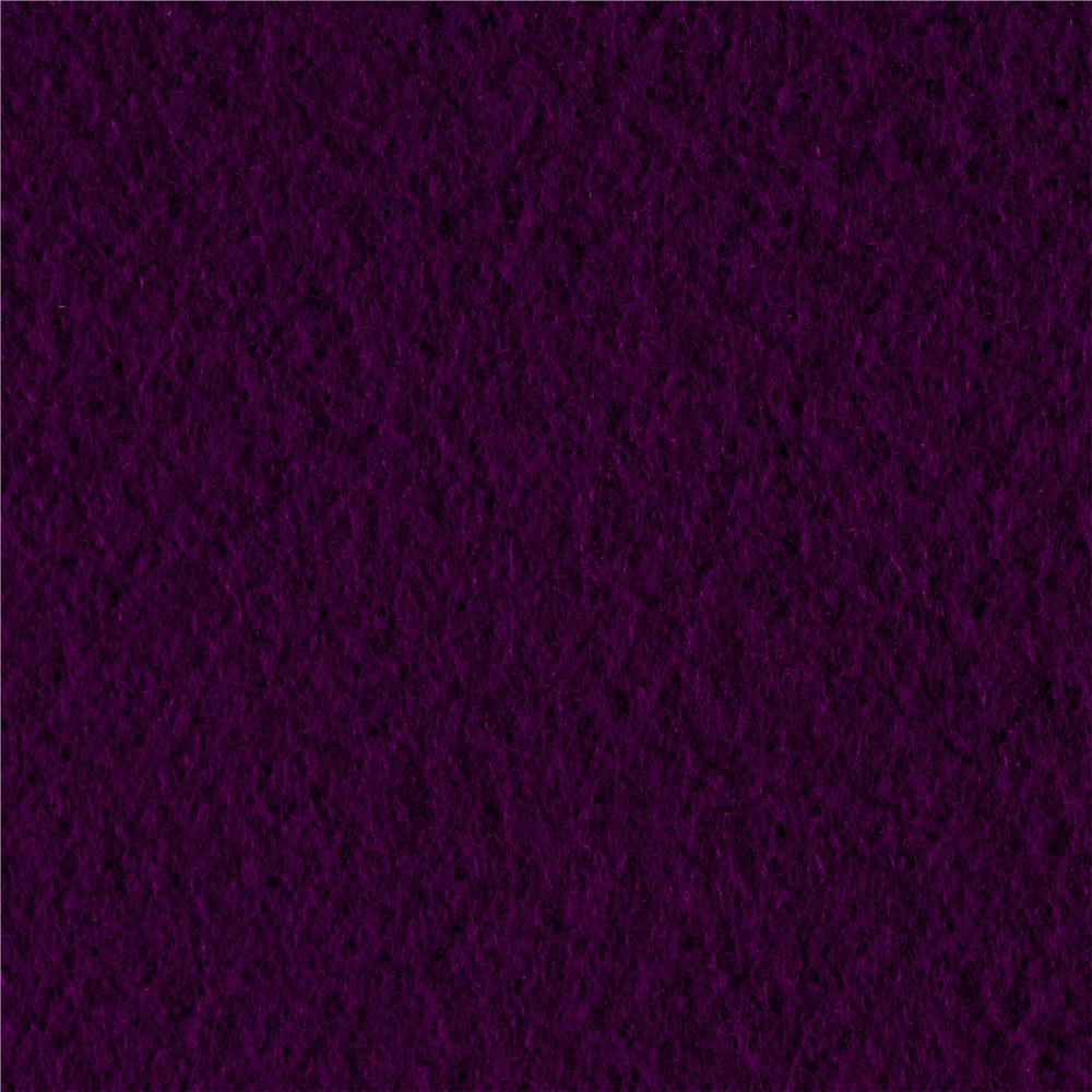Solid Fleece Purple Grape Fabric By The Yard