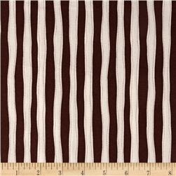 Monkey Around Vertical Stripe Brown Fabric