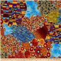 Timeless Treasures Metallic Intrigue Large Scale Geo Patchwork Multi