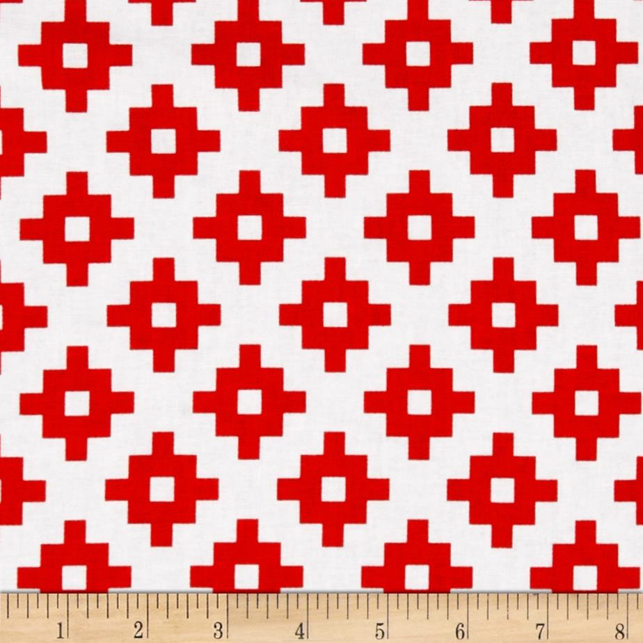 Riley Blake Mod Studio Geometric Red