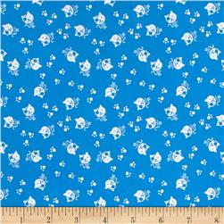 Avalana Jersey Knit Pirate Cats Blue