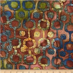 Indian Batiks Circle Dot Rust