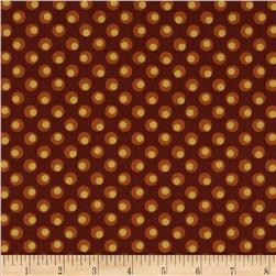 Lonni Rossi Metallic Dotted Circles Burgundy