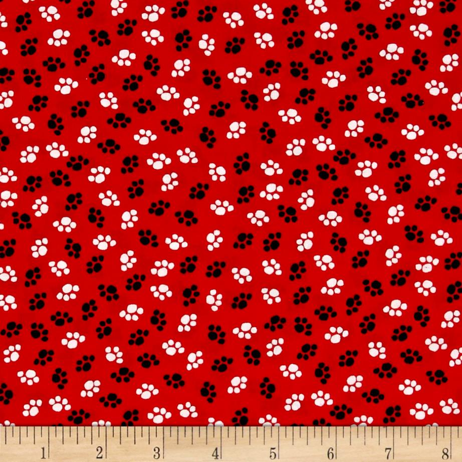 The Cat's Meow Paw Print Red