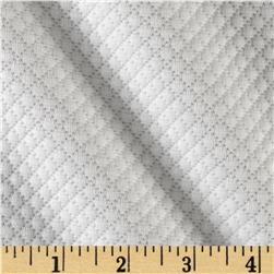 Quilted Liverpool Double Knit Micro Diamonds Ivory