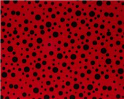 "Fanci Felt 9 x 12"" Craft Cut Random Dots Red"