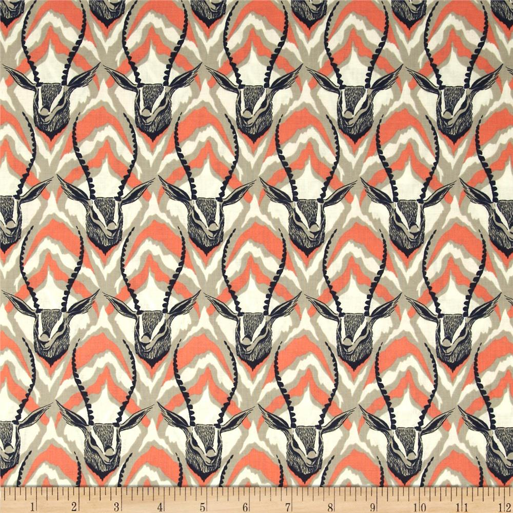 Cotton + Steel August Gazelle Coral