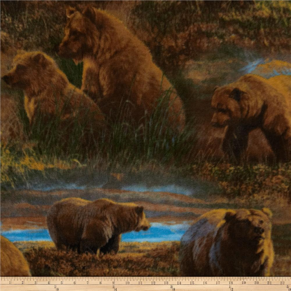 Into the Wild Fleece Grizzlies in the Meadow Multi