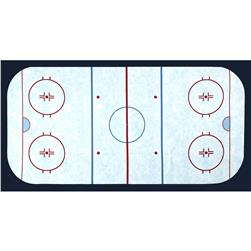 Sports Life 3 Hockey Field Panel Ice
