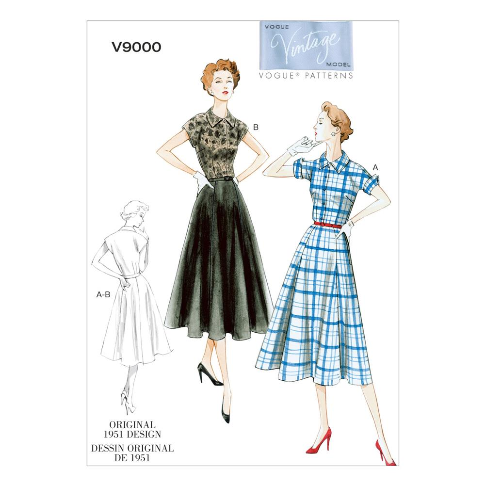 Vogue Misses' Dress and Belt Pattern V9000 Size B50