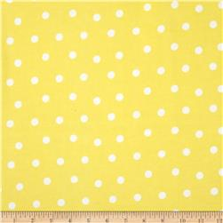 Flannel Dots Yellow/White