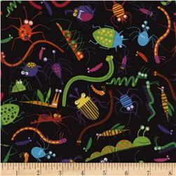 Timeless Treasures Bug Toss Black Fabric