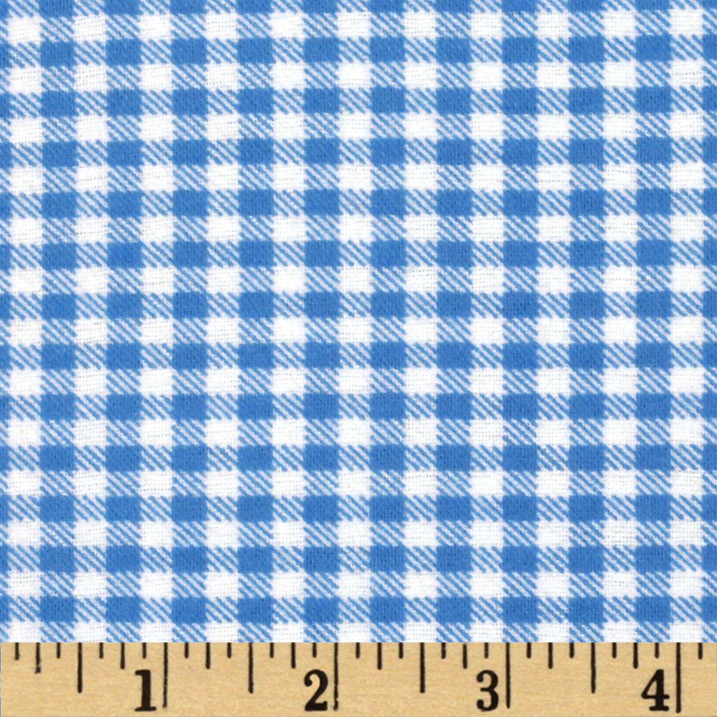 Aunt Polly's Flannel Gingham Light Blue/White Fabric