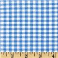 Aunt Polly's Flannel Gingham Light Blue/White