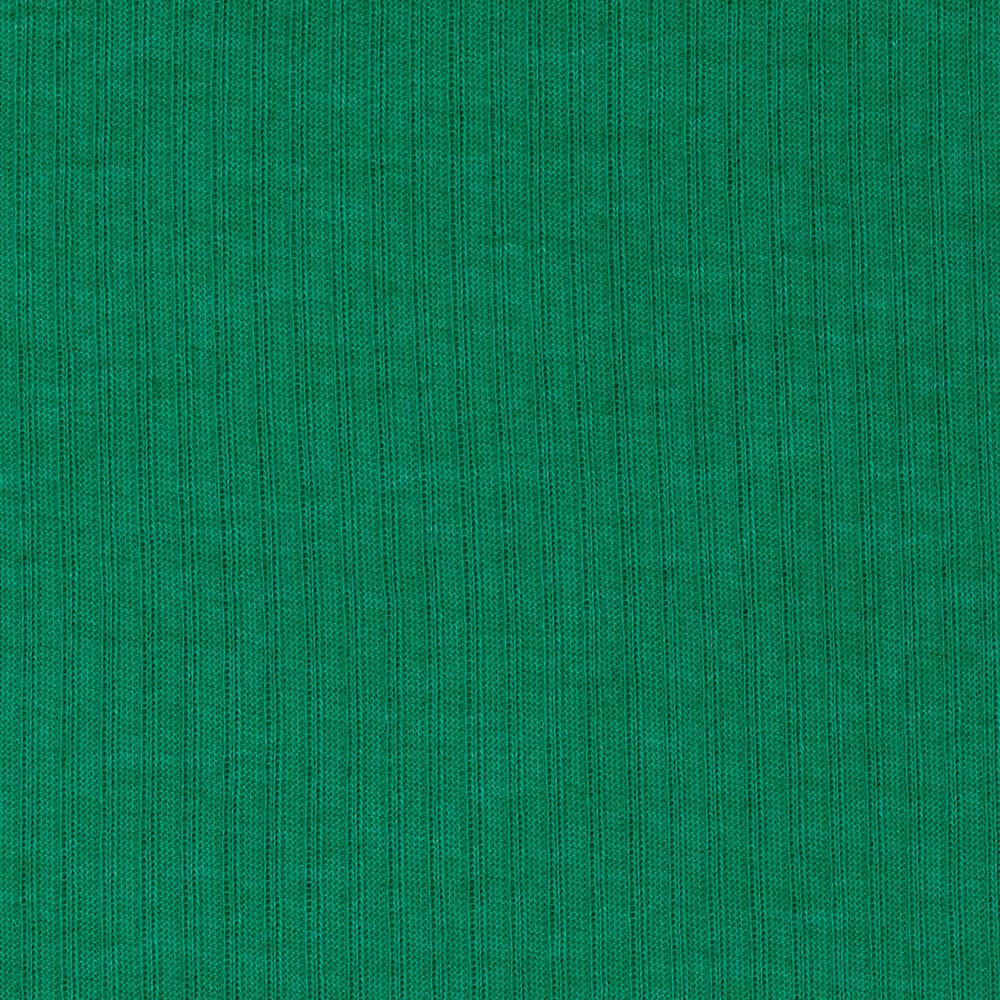 Cotton Poly Rib Knit Fern Green