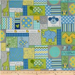 Kimberbell Little One Flannel Too! Flannel Allover Patch Blue