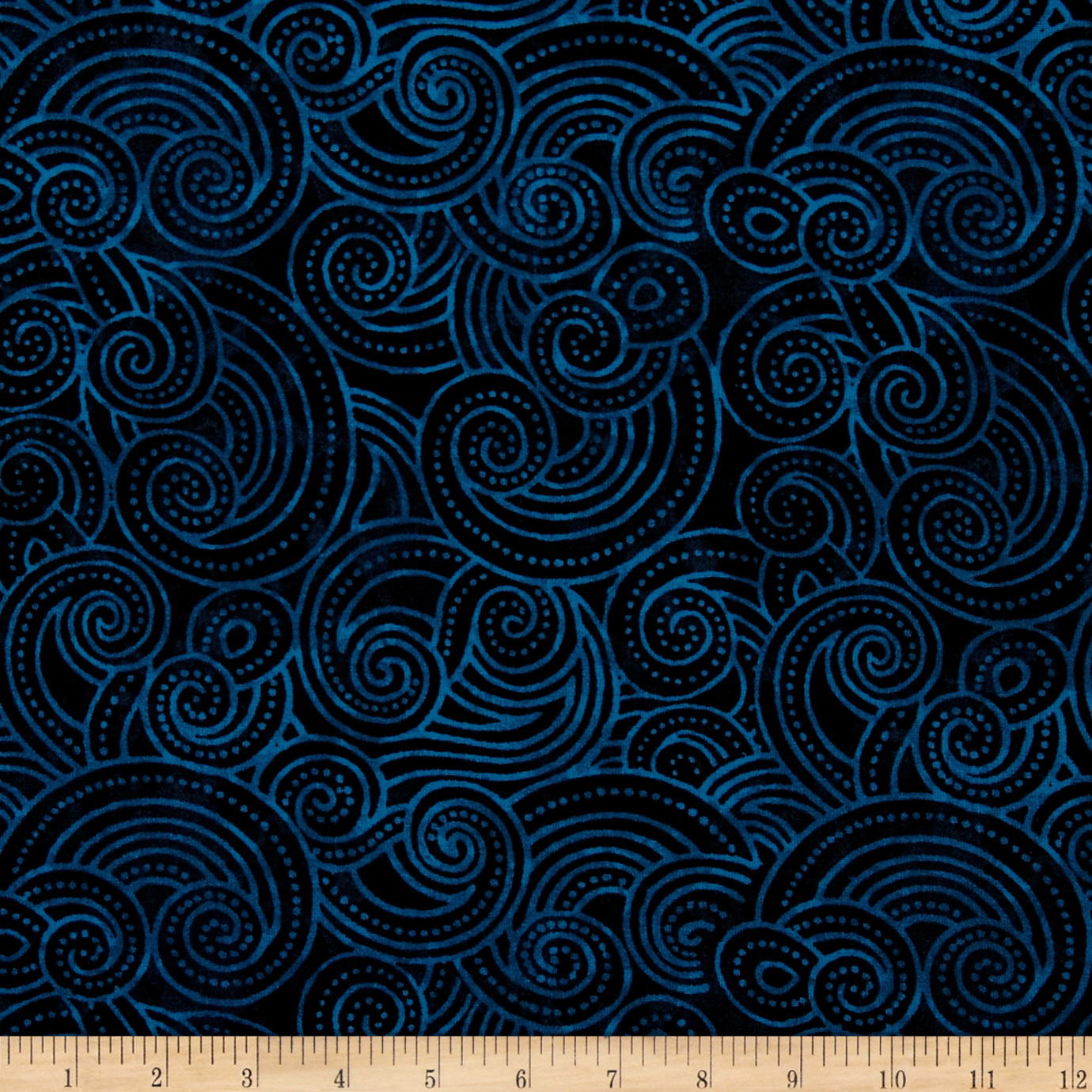 Essential Dotty Waves 108'' Wide Quilt Back Navy