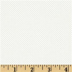 Moda Dottie Tiny Dots White/Grey Fabric