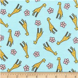 Timeless Treasures Safari Crush Giraffes Aqua
