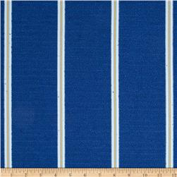 Nautica Indoor/Outdoor Long Beach Stripe Atlantic Blue Fabric