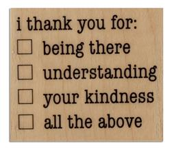 Hampton Art Wood-Mounted Rubber Stamp Thank You Checklist