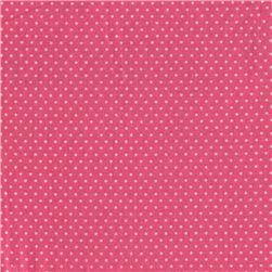 Pin Dot Hot Pink Fabric