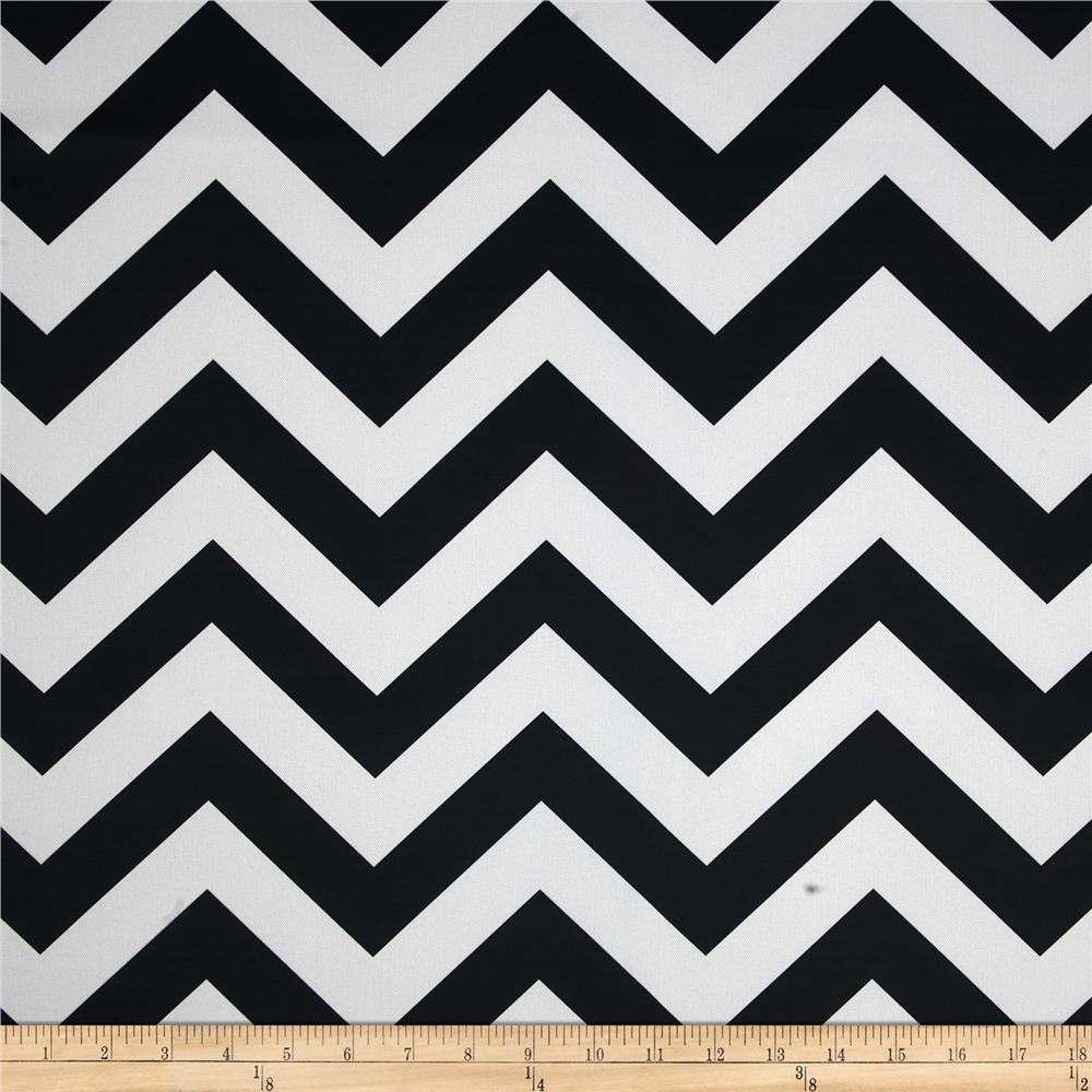RCA Chevron Blackout Drapery Fabric Black
