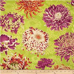 Kaffe Fassett Collective Floating Mums Lime