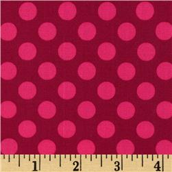 Michael Miller Ta Dot Fuchsia Fabric