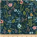 Cotton + Steel Rifle Paper Co Amalfi Herb Garden Navy