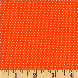 White Pin Dot White Orange
