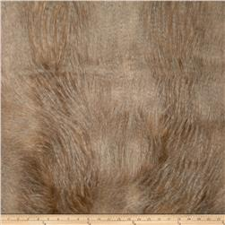 Faux Fur Golden Feather Ivory/Gold Fabric