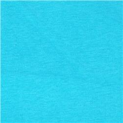 Basic Cotton Baby Rib Knit Solid Lagoon Blue