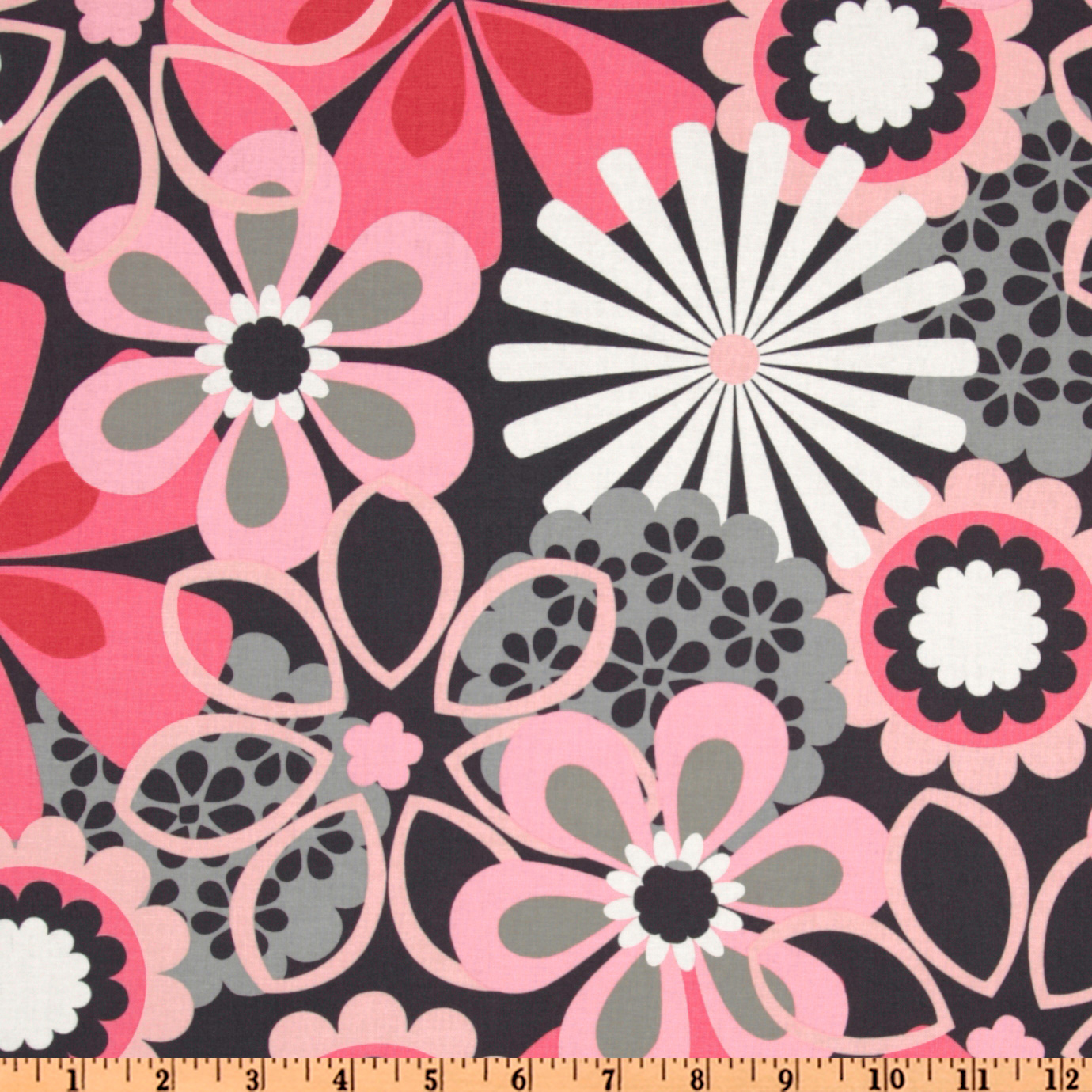 Michael Miller Contemporary Florals Flower Shower Petal Pink Fabric