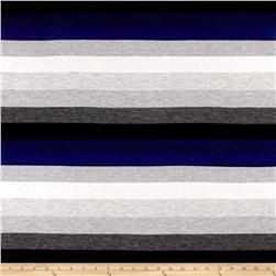 Stripe Jersey Knit Gray/Black/Blue