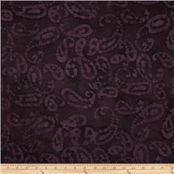 Indian Batik Tossed Paisley Maroon