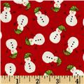 Christmas Mini Snowmen Red