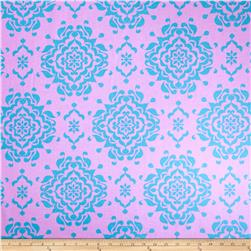 Riley Blake Laminate Splendor Damask Blue