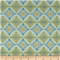 Fabric Freedom Butterfly Meadow Diamond Green