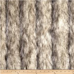 Luxury Faux Fur Wild Coyote Stone