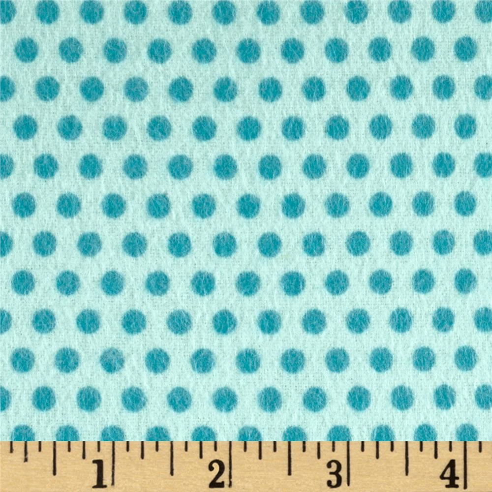 Riley Blake Girl Crazy Flannel Dots Blue