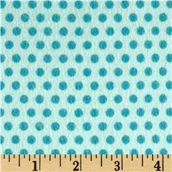 Riley Blake Girl Crazy Flannel Dots Blue Fabric