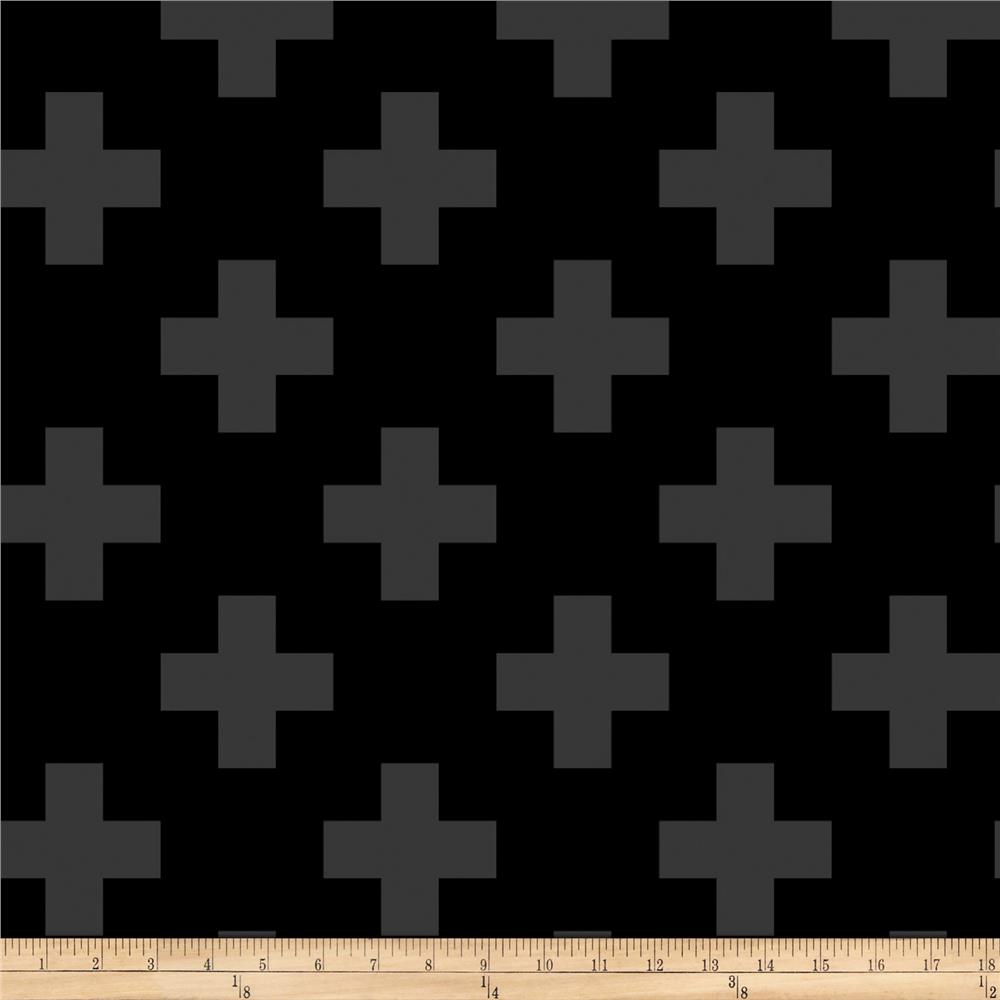 Opalscent Swiss Cross Black