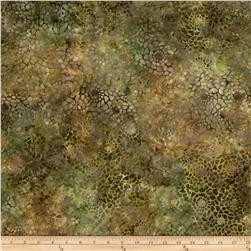 Batavian Batiks Packed Sunflowers Golden Brown